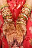 Beautiful hands of an India Bride Stock Image