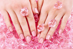 Beautiful hands with manicure Stock Image