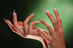 Beautiful hands and nails Royalty Free Stock Photos