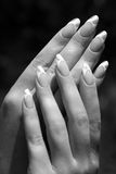 Beautiful hands and nails. Of a young girl Stock Photo