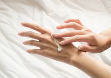 Beautiful hands woman royalty free stock photography