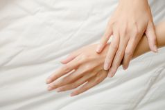 Beautiful hands womane Royalty Free Stock Photography