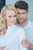 Beautiful and Handsome Young Sweet Couple Stock Photography