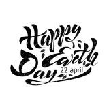 Beautiful handwritten text, calligraphy, lettering Happy Earth Day on April 22 on a textured background. Vector illustration for g. Reeting card, poster, logo Royalty Free Stock Image