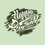 Beautiful handwritten text, calligraphy, lettering Happy Earth Day on April 22 on a textured background. Vector illustration for g. Reeting card, poster, logo Stock Photos