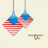 Beautiful hanging for American Presidents Day. Royalty Free Stock Images