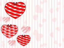 Beautiful hanging hearts. Royalty Free Stock Photo