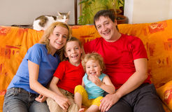 Beautiful happiness family Royalty Free Stock Image