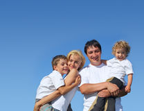 Beautiful happiness family. Series Royalty Free Stock Photos