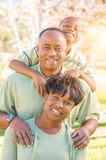 Beautiful Happy African American Family Portrait Outdoors Royalty Free Stock Photo
