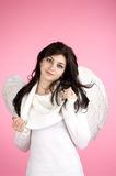 Beautiful happy angel Stock Photo