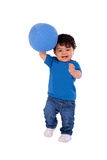 Beautiful and happy baby with a ball Royalty Free Stock Photos