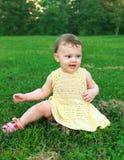 Beautiful happy baby girl sitting Stock Photography