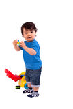 Beautiful and happy baby playing Royalty Free Stock Photos