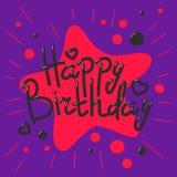 Beautiful happy birthday invitation cards vector. Beautiful birthday invitation cards design colors anniversary background. Vector greeting card decoration vector illustration