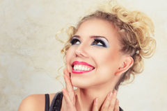 Beautiful happy blonde young woman Royalty Free Stock Photo