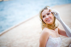 Beautiful happy bride Royalty Free Stock Image