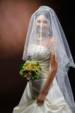 Beautiful happy bride Stock Images