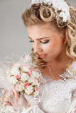Beautiful happy bride Stock Photo