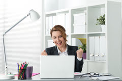 Beautiful happy busines woman Royalty Free Stock Image