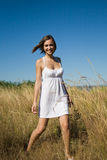 Beautiful happy caucasian girl stock image