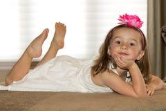 Beautiful, happy child posing Stock Images