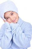 Beautiful happy childhood in robe, isolated Stock Photography