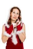 Beautiful Happy Christmas Woman Royalty Free Stock Image
