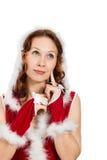 Beautiful Happy Christmas Woman Stock Photography