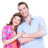 Beautiful happy couple in casual. Stock Images