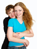 Beautiful happy couple of lovers Royalty Free Stock Image