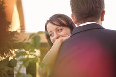Beautiful happy couple in nature Royalty Free Stock Photography