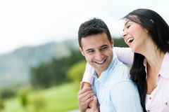 Beautiful happy couple Stock Photography