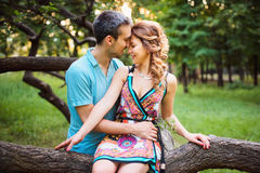 Beautiful happy couple together Royalty Free Stock Images