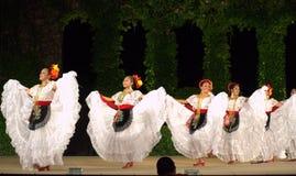 Beautiful happy dancing Latino women Royalty Free Stock Images