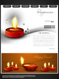 Beautiful happy diwali colorful hindu festival web Royalty Free Stock Photos
