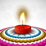 Beautiful Happy diwali colorful rangoli Royalty Free Stock Images