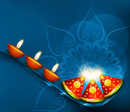 Beautiful  happy diwali crackers colorful  Royalty Free Stock Photos