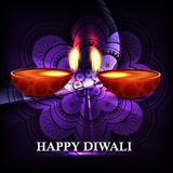 Beautiful Happy diwali diya hindu festival shiny b Stock Photos