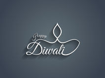 Beautiful Happy Diwali text design. Stock Image