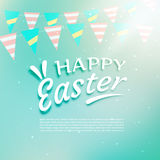 Beautiful happy easter background with celebration garlands Royalty Free Stock Photo