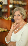 Beautiful happy elderly woman Royalty Free Stock Photography