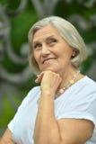 Beautiful happy elderly woman Stock Images