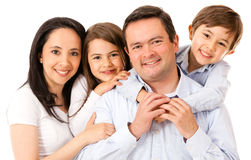 Beautiful happy family Royalty Free Stock Photography