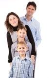 Beautiful happy family Stock Photos