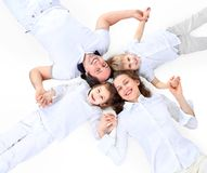 Beautiful happy family Stock Images