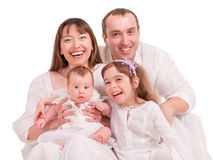 Beautiful happy family Royalty Free Stock Image