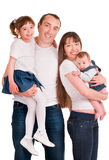 Beautiful happy family. Father, mother and children Royalty Free Stock Photo
