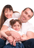 Beautiful happy family. Father, mother and children Royalty Free Stock Images