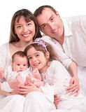 Beautiful happy family. Father, mother and children Royalty Free Stock Image